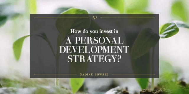 Personal development strategies