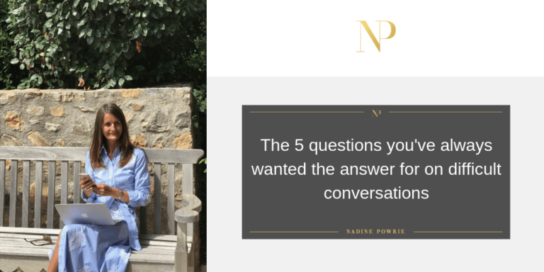 5 questions for difficult conversations