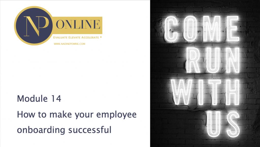 Nadine Powrie Consultancy Online Training Module 14