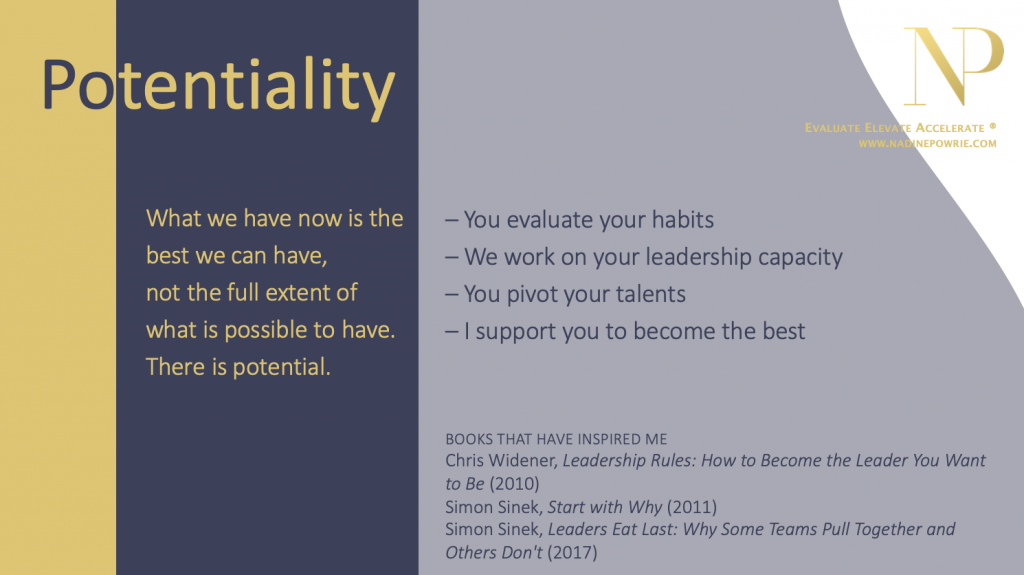 Nadine Powrie's values: potentiality