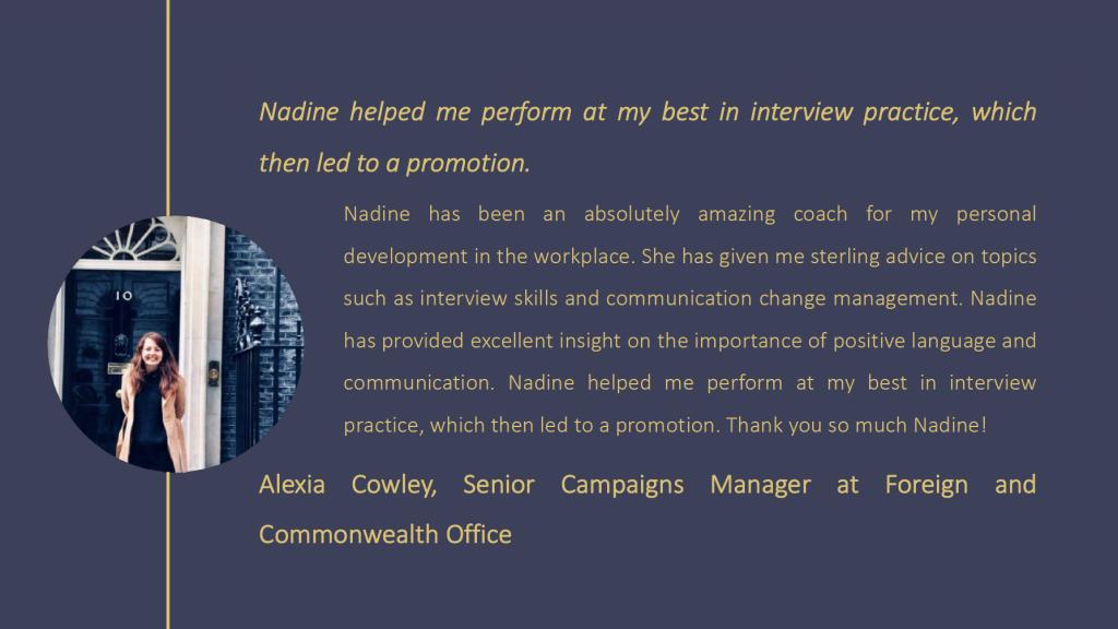 Alexia Cowley testimonial