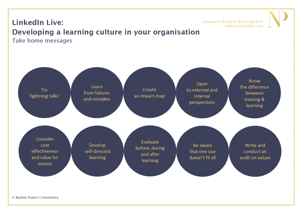 Developing a learning culture in your organisation