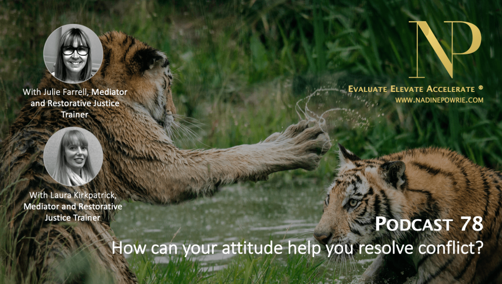 How can your attitude help to resolve conflict