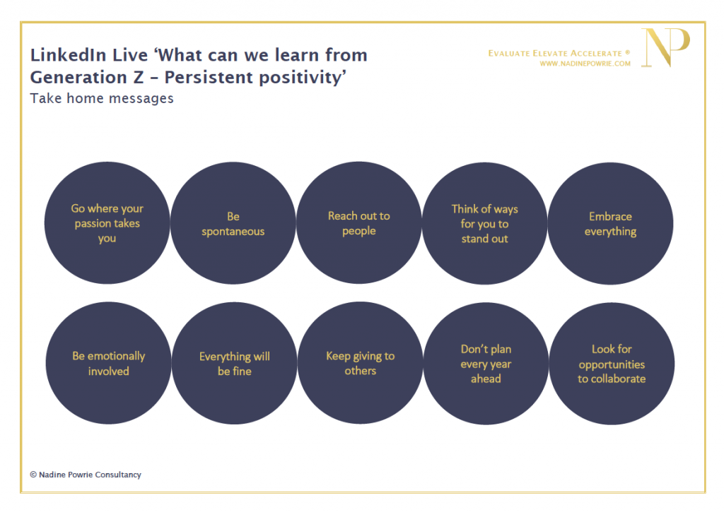 What can learn from Gen Z persistent positivity