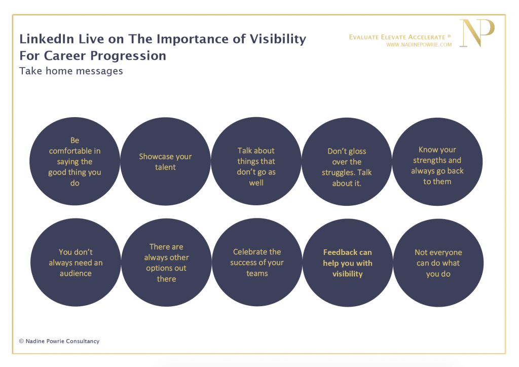 The importance of visibility for career progression