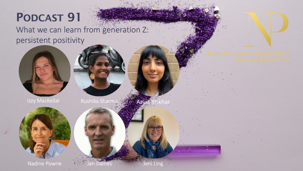 What can we learn from Generation Z: persistent positivity